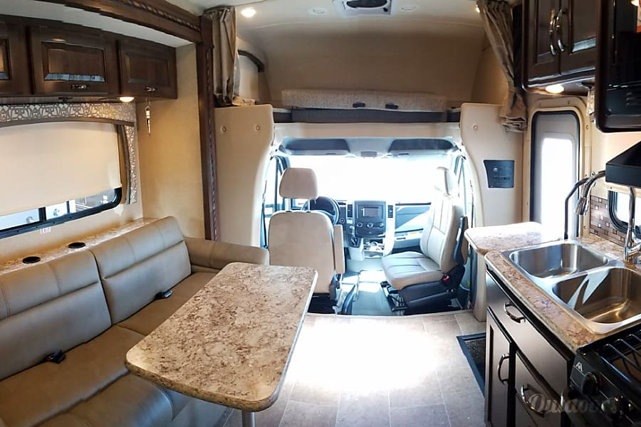 "interior Your ""Chateau"" away from home! - 2017 Thor Motor Coach Chateau Citation Sprinter 24-HL Helotes, TX"