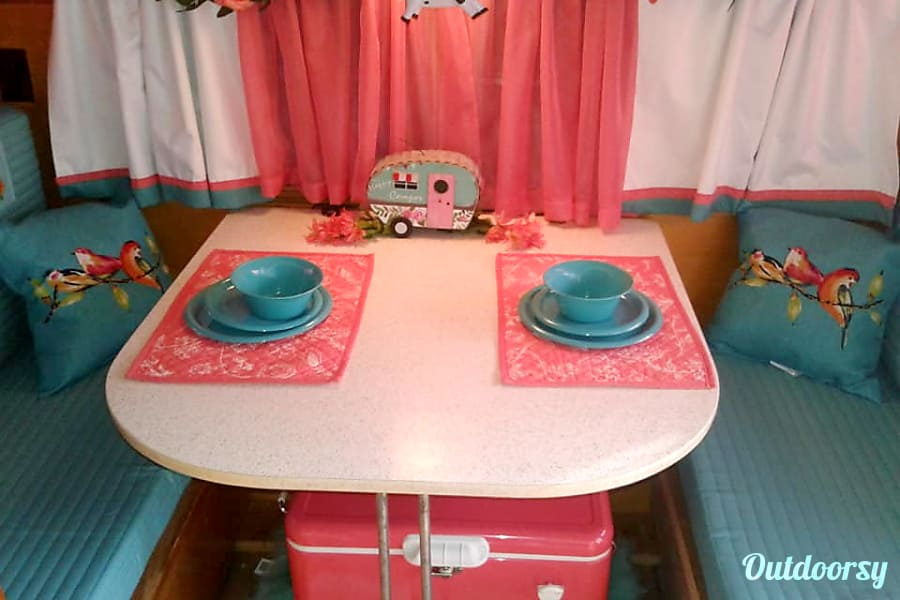 "interior 1969 Frolic - ""The Flying Cow"" Vintage Camper Caroga Lake, NY"
