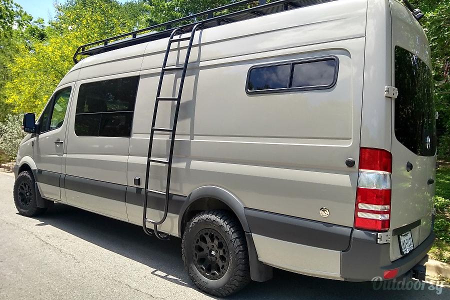 exterior Custom Sprinter - Offgrid luxury | Turnkey van life experience Austin, TX