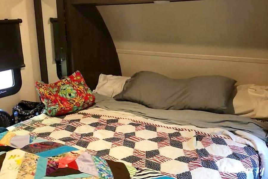 2018 Forest River Wildwood X Lite Rockwall, TX Master Bedroom, Queen Size  Bed