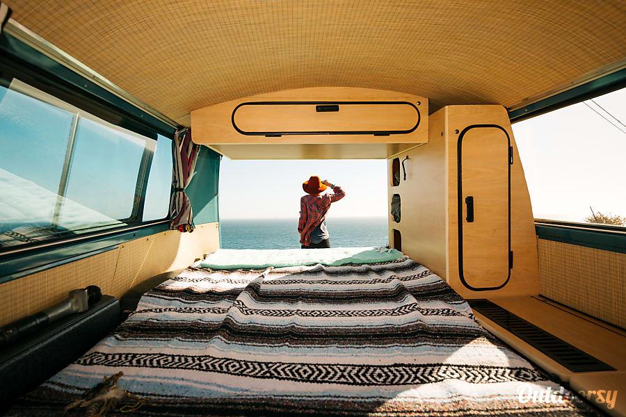 interior 'Blu Max' VW Bay Window: Riviera Pop-Top / Westfalia Interior Costa Mesa, CA