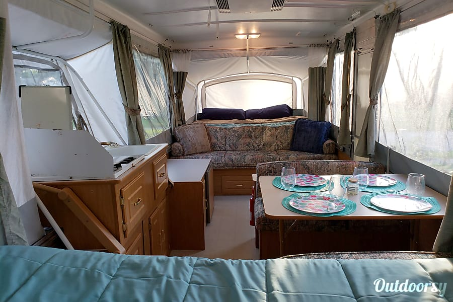 Coleman Pop Up Camper Curtains