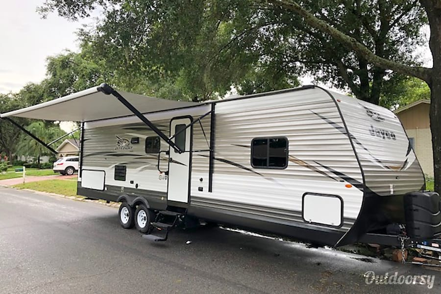 exterior Free setup at Disney Fort Wilderness 2018 Jayco Jay Flight Brandon, FL