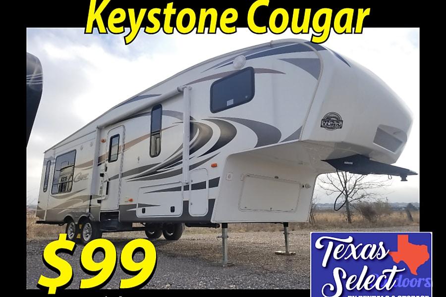 2013 Keystone Cougar Lite Fifth Wheel Rental In Round Rock