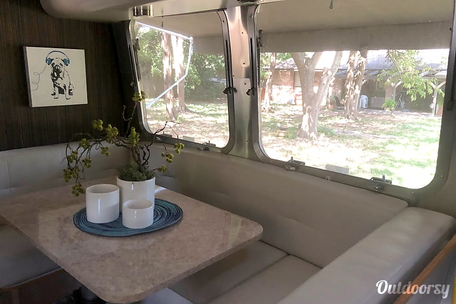 "interior 2016 Airstream International Signature Series ""Retro Love"" Cedar Hill, TX"