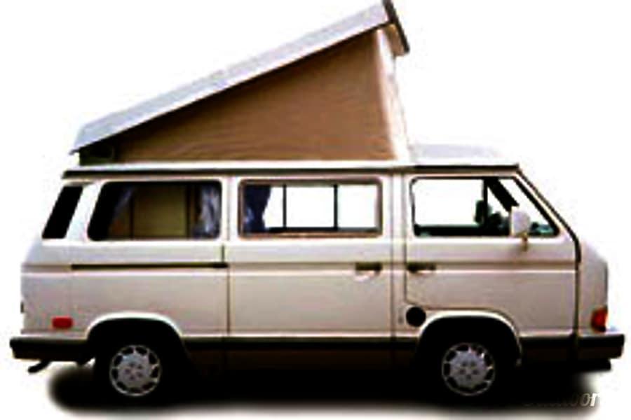 exterior Classic White Genuine 1989 Volkswagen Westfalia with Audi Alloy Wheels Squamish, BC