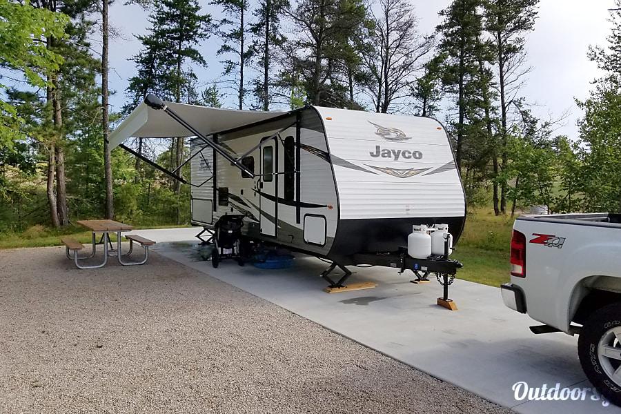 exterior 2019 Jayco Jay Flight 224BH (DELIVERY REQUIRED) Ludington, MI