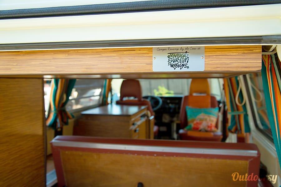 interior 'Malibu' VW Bay Window:  Westfalia Pop-Top Los Angeles Area, CA
