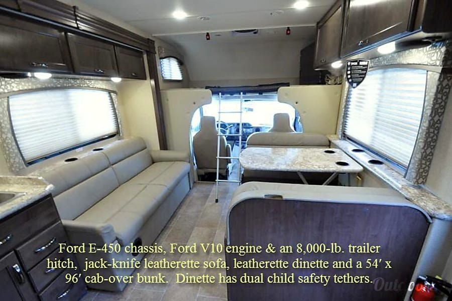 """Maverick"" -- our 2018 Thor Motor Coach Chateau Class C RV 30D bunk model Coppell, TX"
