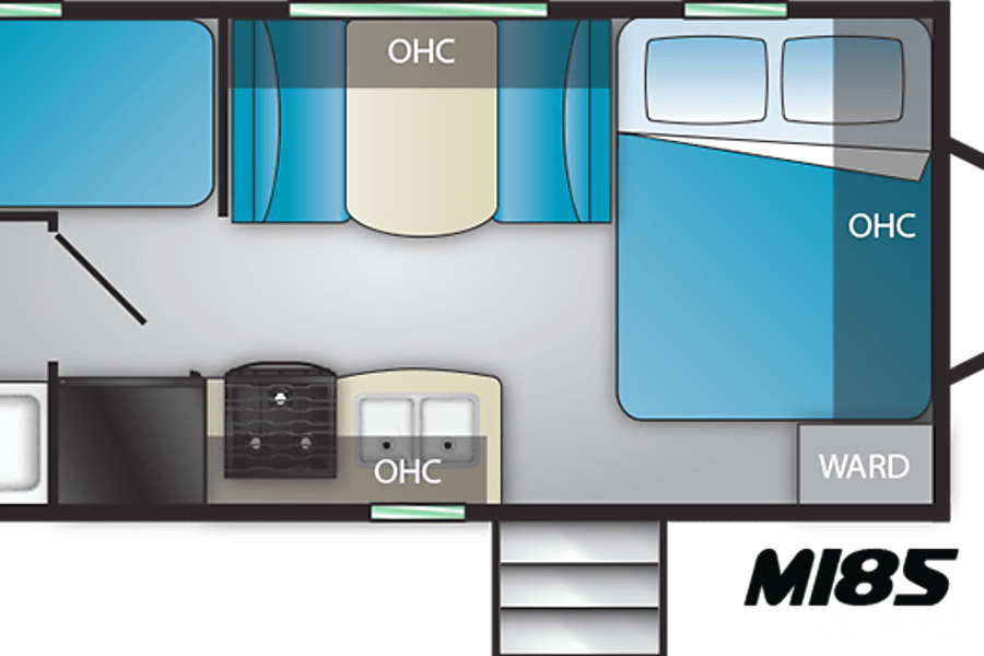 interior 2018 Heartland Mallard M185 - Easy to Tow! Kenosha, WI
