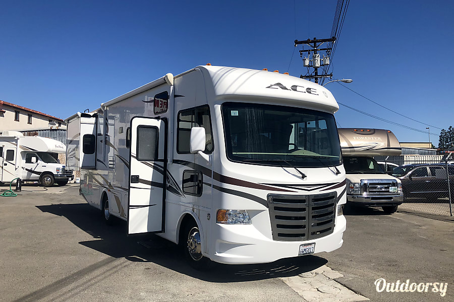 exterior Bright and Airy 30' ACE Thor Class 'A' with Dual Slide-outs Vista, CA