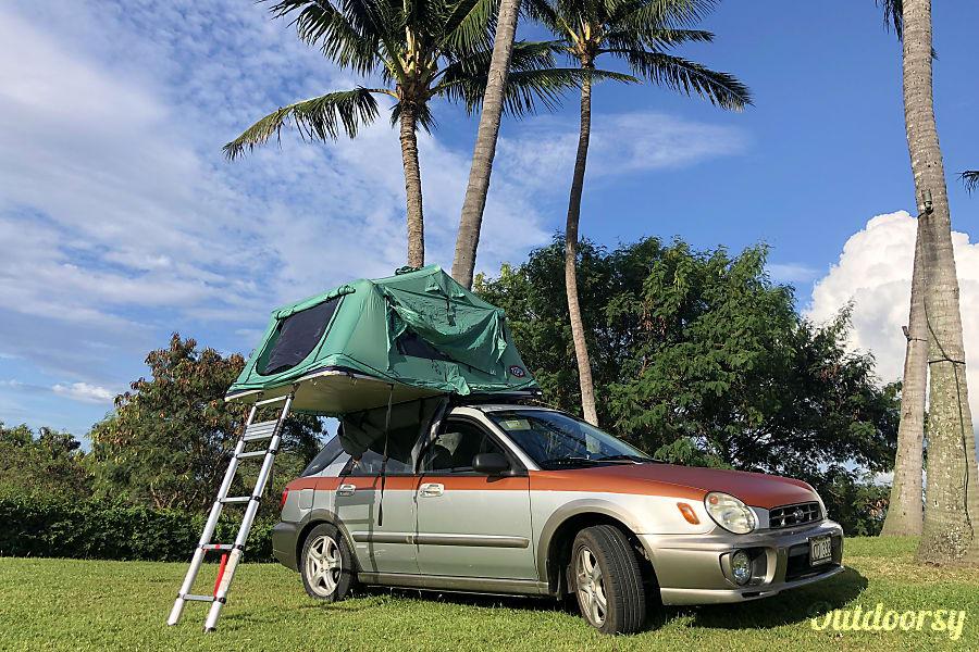 "exterior Maui ""Alani"" camping car SUBARU IMPREZA 4WD  -Cold AC. Kahului, HI"