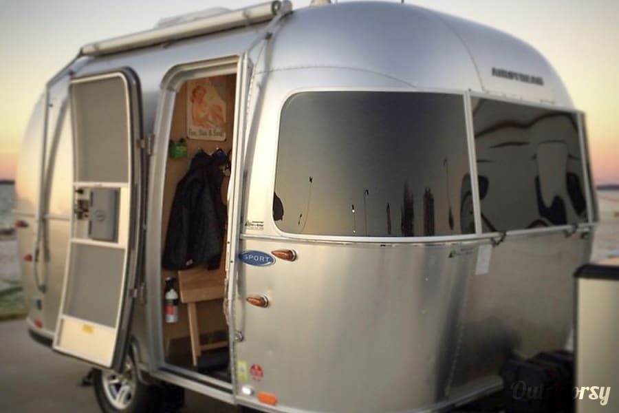 "exterior ""Moonwalk"" 16' Airstream Sport with Solar Felton, CA"
