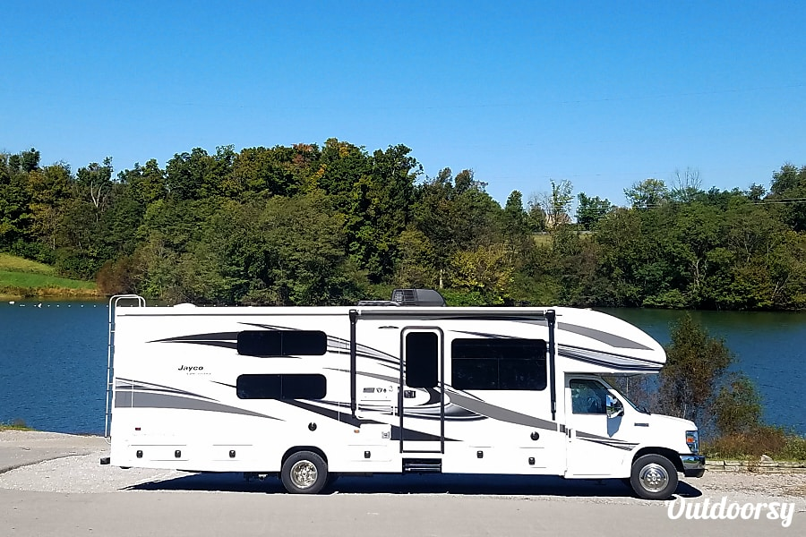 exterior 2018 Jayco Greyhawk 32' Bunkhouse  **Delivery Available** Florence, KY
