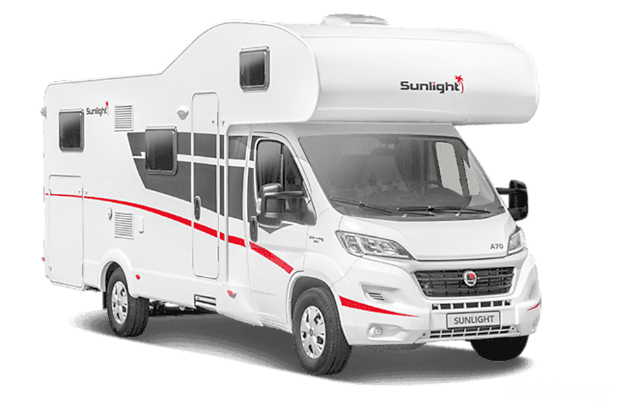 campervan rentals in London - stock image of the Sunlight A72