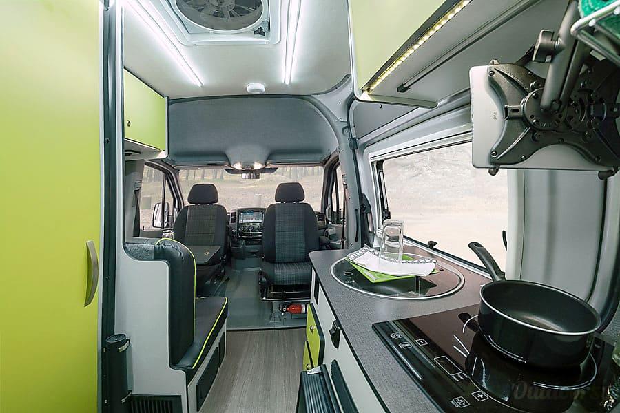 interior 2020 Winnebago Revel - unlimited miles, all inclusive pricing Belgrade, MT