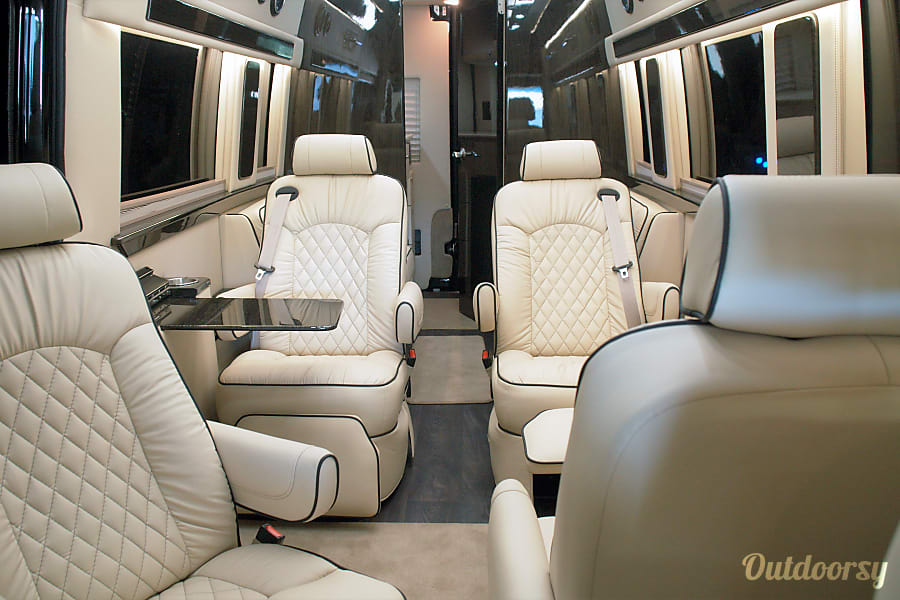 "interior Luxury 2019 Mercedes Sprinter ""LearJet on Wheels"" Plainview, NY"