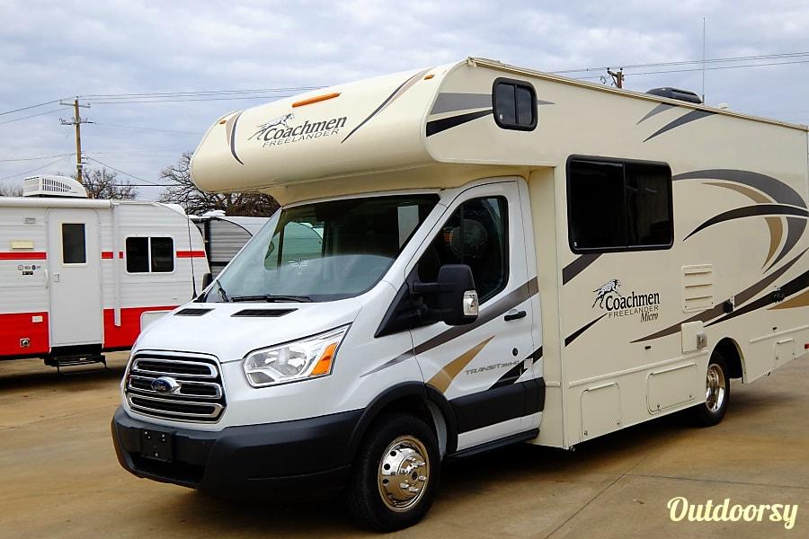 exterior 2018 Coachmen Freelander Micro with OUTDOOR ENTERTAINMENT CENTER and More! Grapevine, TX