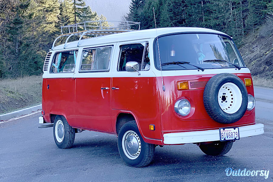 exterior 1977 Volkswagen Type 2 Camper Van Port Angeles, WA