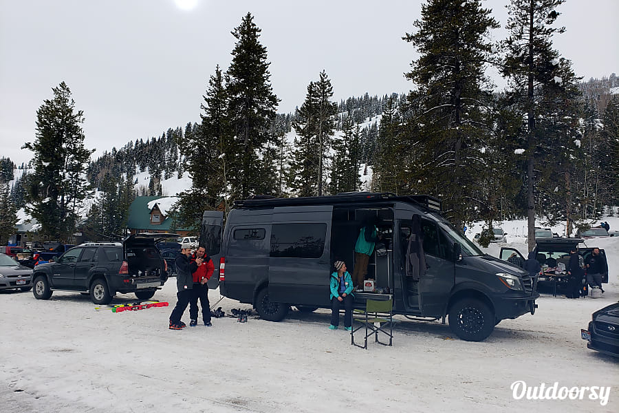 exterior Mercedes 4x4 Sprinter- custom outfitted by REPARADISE Salt Lake City, UT