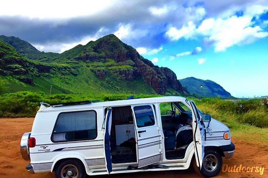 c0d3aba5866940 1995 Dodge Ram 1500 Motor Home Camper Van Rental in Kailua