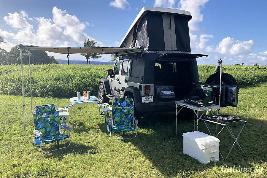 Jeep Wrangler 4x4 Pop-Up Camper-The newest, most modern, and capable Campers on Maui! Kahului, HI