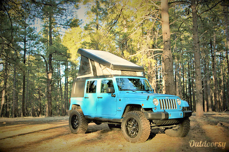exterior 2017 Jeep Wrangler Unlimited Sahara 4x4 with Pop Up Camper Flagstaff, AZ