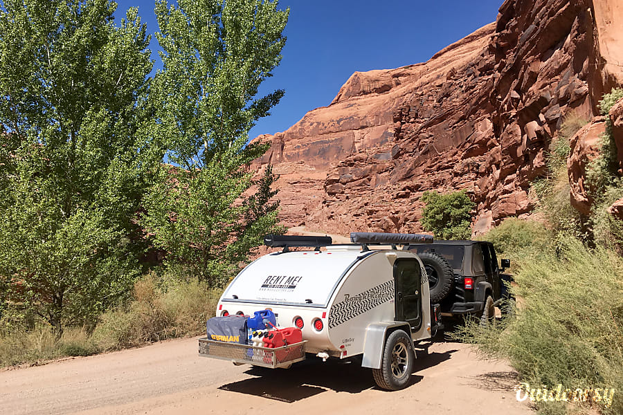 Tow Anywhere, Tow with Anything light and off -road capable teardrop camper with rear kitchen galley Nashville, TN