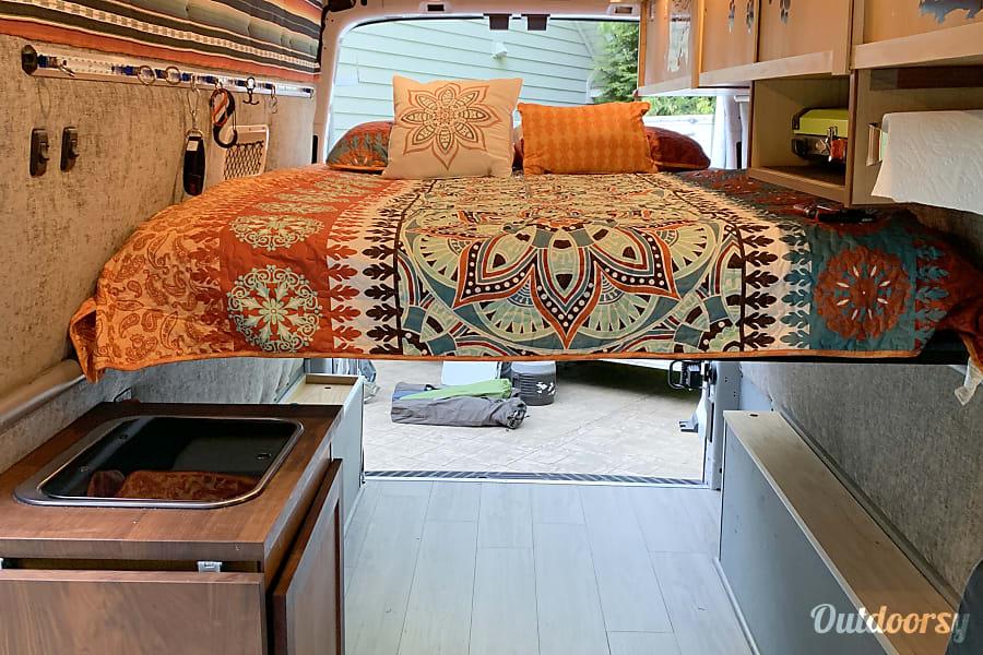 interior Trail Dogs Adventure Vans 2017 Ford Transit Fletcher, NC