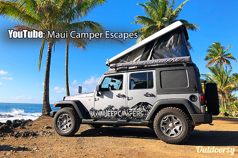 exterior Jeep Wrangler 4x4 Pop-Up Camper-The newest, most modern, and capable Campers on Maui! Kahului, HI
