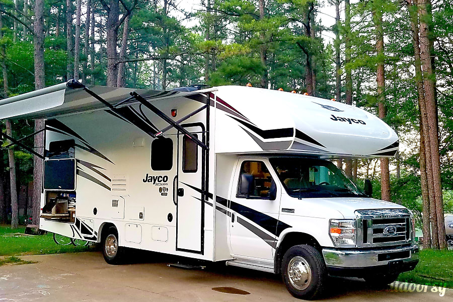 exterior 2019 Jayco 25R Redhawk, Outdoor Kitchen, Dry Camping Dream, CERTIFIED Indianapolis, IN