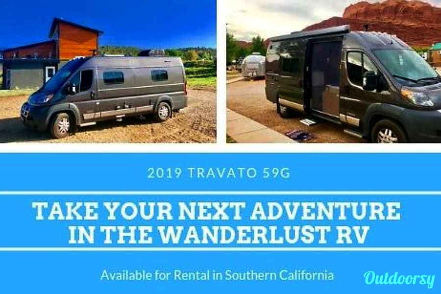 "exterior ""Wanderlust RV"" 2019 Winnebago Travato 59G Class B Irvine, CA"