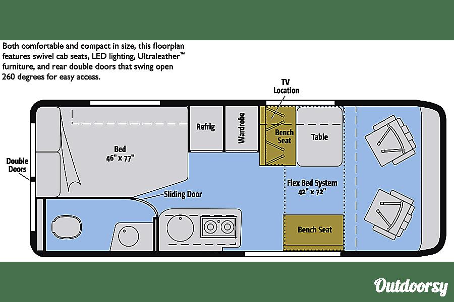"interior ""Wanderlust RV"" 2019 Winnebago Travato 59G Class B Irvine, CA"