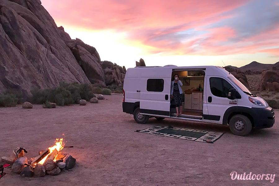"""exterior 2017 """"Smalls""""  Stealth Camper Van La Crescenta Montrose, CA"""