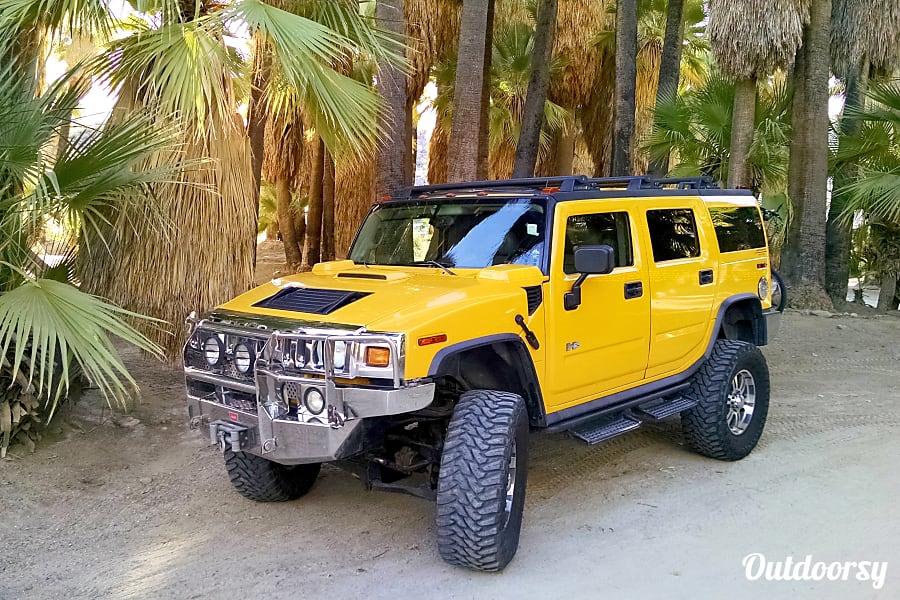 exterior H2 Hummer Camper - The Aztec Rancho Mirage, CA