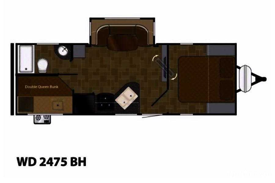 floorplan 2018 Heartland Wilderness Bastrop, TX
