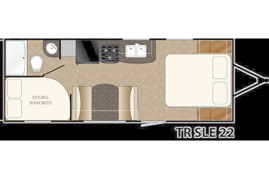 floorplan 22' Trail Runner Travel Trailer Pflugerville, TX