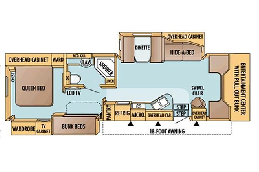 floorplan 36' Jayco Seneca Diesel w/Two Slides + Bunk Beds (43) San Marcos, CA