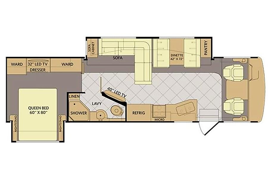 floorplan 33' Fleetwood Bounder With Dual Slide-Outs (49) San Marcos, CA