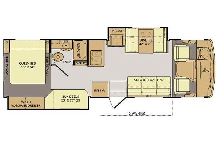 floorplan 32' Storm w/Two Slides & Bunk Beds (44) San Marcos, CA
