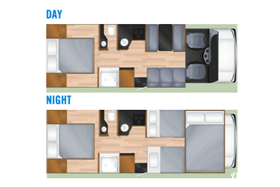 floorplan 2012 Thor Motor Coach Four Winds Majestic Alpine, UT