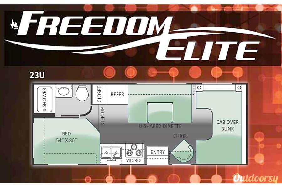 floorplan 2014 Thor Motor Coach Freedom Elite 23U Charlotte, NC