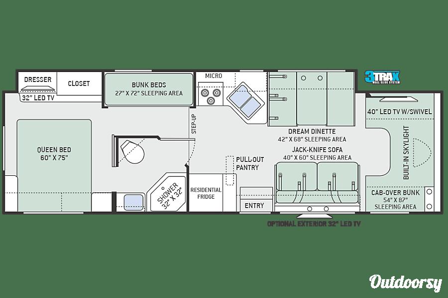 floorplan 2017 Thor Quantum LF31 Seffner, FL