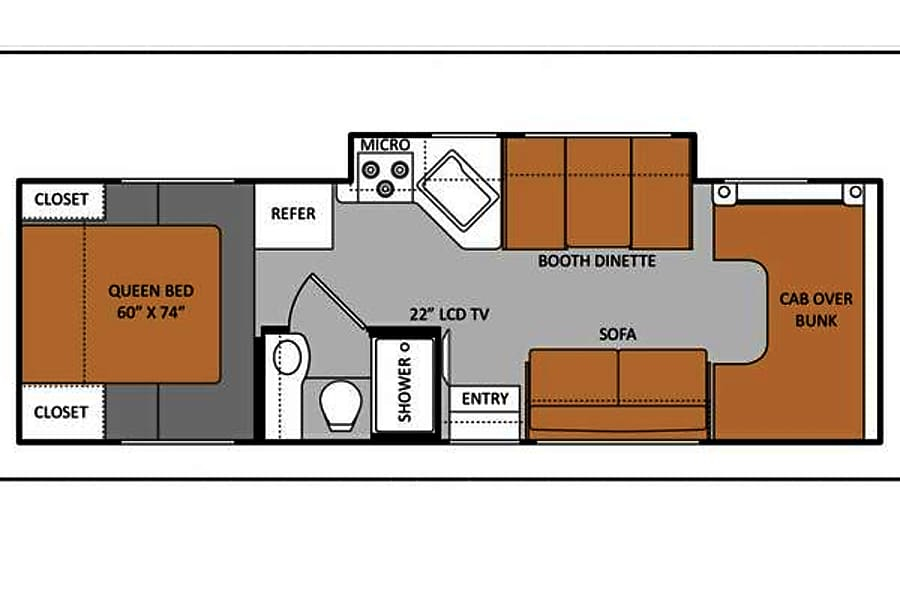 floorplan 30ft Thor Class C (C3005) Sun City, AZ