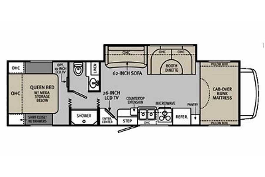 floorplan CG7058 2011 Holiday Rambler Aluma-Lite Riverside, MO