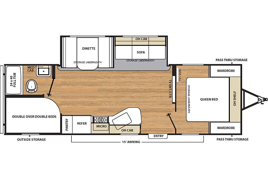 floorplan 2016 Coachmen Catalina SBX Livermore, CA
