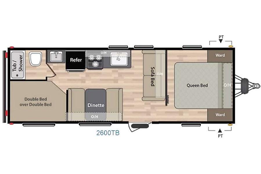 floorplan RV 36: 2017 Keystone Summerdale 2600 TB Herndon, VA
