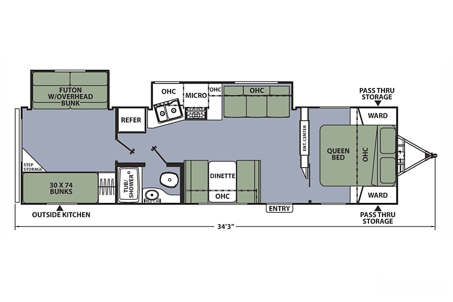 floorplan 2017 Coachmen Apex Holly Springs, NC