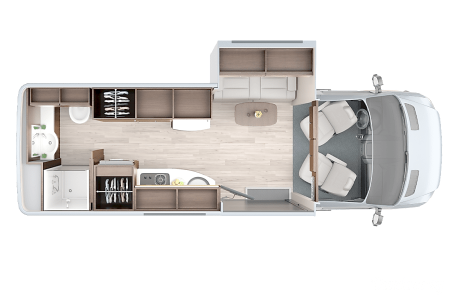 floorplan Luxury Camper Van, Travel in Style! Healdsburg, CA