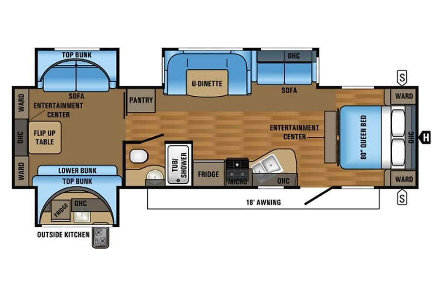 "floorplan 2017 Jayco Flight aka ""The Beast"" Idaho Falls, ID"